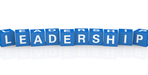 image of leadership spelled in blocks